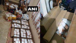 नेता के गोदाम में कर्टन और बोरों में भरे मिले नोट, गिनेे तो Rs.11 करोड़ से ज्यादा निकले