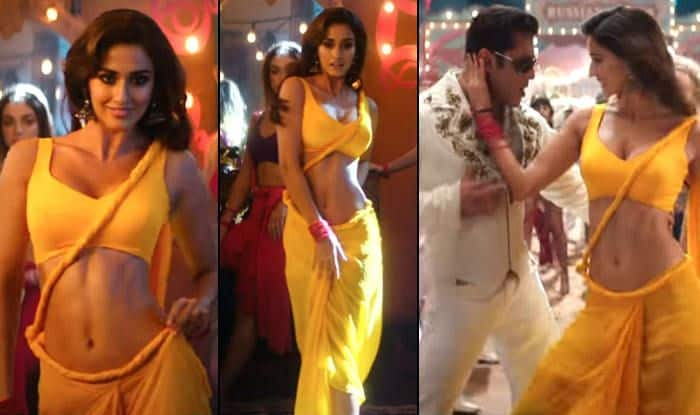 Image result for Is That Pallu a Joke? Disha Patani's Yellow Saree in Bharat's Song Triggers a Debate