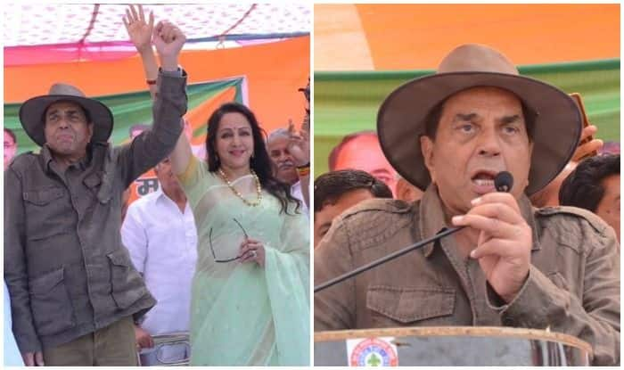 Dharmendra Backs Hema Malini's Election Campaign in Mathura With Sholay Dialogues