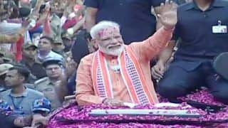 Watch: PM Modi's Roadshow in Varanasi Ahead of Nomination