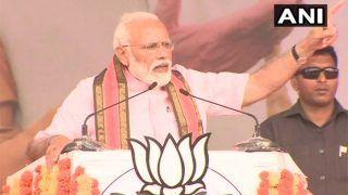 कर्नाटक की कांग्रेस- जेडीएस गठबंधन की ''20 परसेंट कमीशन सरकार'' है: पीएम मोदी