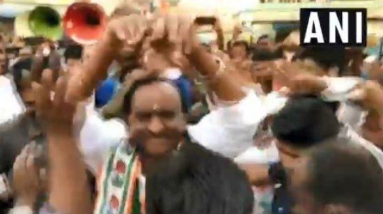 Karnataka Housing Minister MTB Nagaraj Performs Naagin Dance During Campaign For Votes, Watch