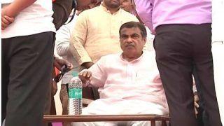 शिरडी चुनावी रैली में मंच पर बेहोश हो गए नितिन गडकरी, अब ठीक है तबीयत