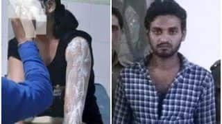 मथुरा में महिला कांस्टेबल पर फेंका तेजाब, पुलिस ने मुठभेड़ के बाद आरोपी को दबोचा