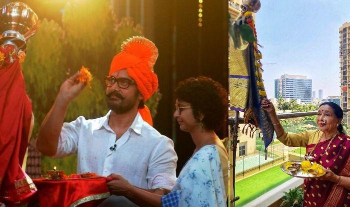Aamir Khan, Asha Bhosle celebrate Gudi Padwa
