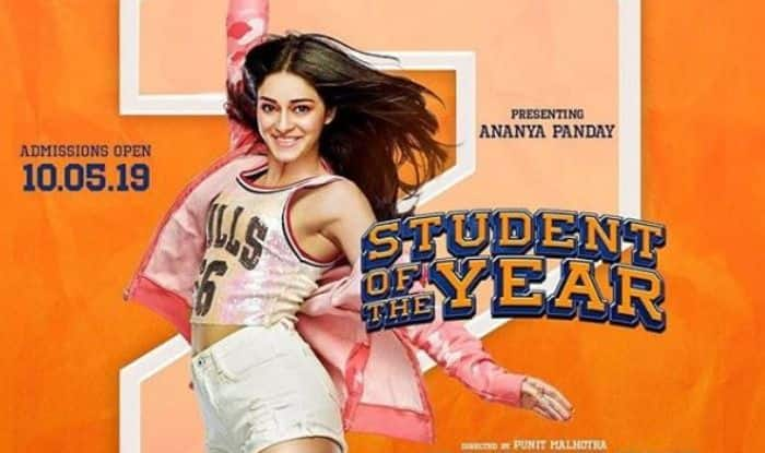 Student of The Year 2 poster featuring Ananya Panday