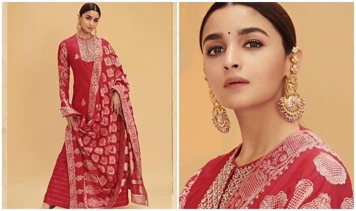 Alia Bhatt Dons The Colour of Love as She Slays in Indian Attire For Kalank's Promotions, Rosy Pictures go Viral
