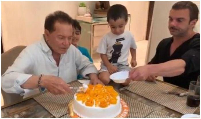 Salman Khan's Nephew Ahil Can't Stop Shrieking as 'Nanu' Salim Cuts Cake, Viral Video Drips With Love