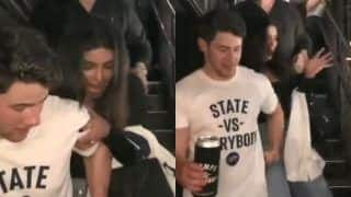 Priyanka Chopra Trips as She Walks Down The Stairs, Husband Nick Jonas Has Got Her Back - Watch
