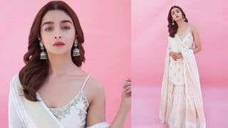Alia Bhatt is a Vision in White in Kurta-Sharara Set by Anita Dongre, See Pictures