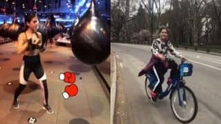 Sara Ali Khan Rides a Bike And Tries a Hand at Boxing in The Big Apple, Watch