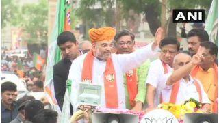 Lok Sabha Elections 2019: BJP President Amit Shah Conducts a Road Show in Gandhinagar's Kalol