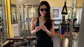 Kareena Kapoor Khan Clicks a Gym Selfie While Saif Ali Khan And Taimur Ali Khan Photobomb