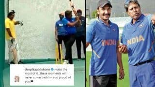 Ranveer Singh Practises Kapil Dev's Natraj Shot For '83 And Deepika Padukone Asks Him to 'Make Most of it'