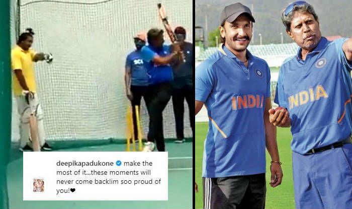 Ranveer Singh Practises Kapil Dev's Natraj Shot For '83 And Deepika Padukone Asks Him to 'Make Most of it'