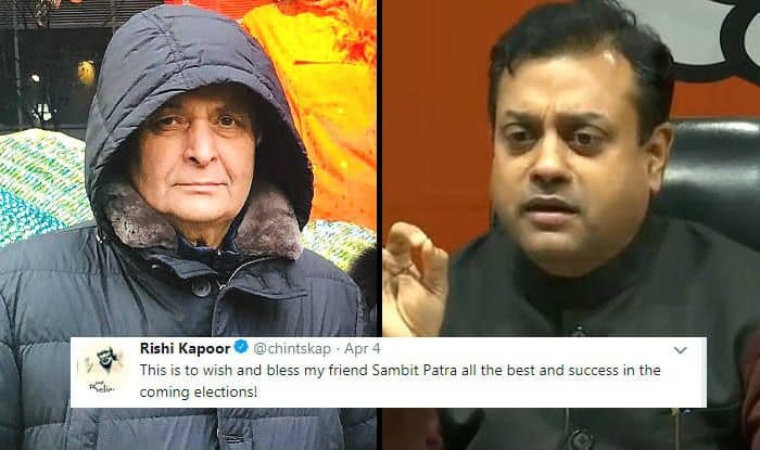 Rishi Kapoor Tweets in Support of BJP's Sambit Patra Ahead of Lok Sabha Elections 2019