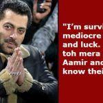 Salman Khan Speaks on Being 'Bigger' Than Shah Rukh Khan And Aamir Khan at Box Office