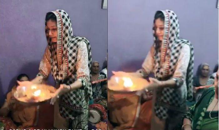 Haryanvi Dancer Sapna Choudhary Performs Navratri Aarti With Family, Watch Video