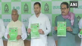 Tejashwi Yadav Releases RJD's Manifesto For Lok Sabha Elections, Promises Quota in Private Sector