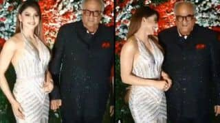 Urvashi Rautela Criticises News Report Claiming Boney Kapoor Touched Her Inappropriately at a Wedding Party - Video