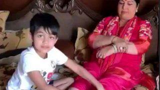 शिल्पा शेट्टी के बेटे कर रहे हैं अपनी नानी की सेवा, देखें वीडियो
