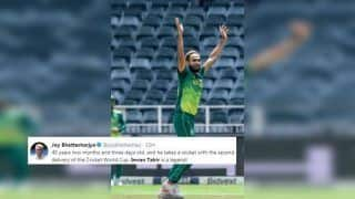 Eng vs SA: Imran Tahir Picks Early Wicket of Jonny Bairstow For Duck During 2019 ICC Cricket World Cup Opener Between England And South Africa, Sets Twitter Abuzz | SEE POSTS
