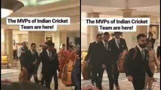 MS Dhoni Gets Loudest Cheer From Fans as Virat Kohli-Led Team India Leave For World Cup 2019 | WATCH VIDEO