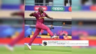 Pak vs WI: 'Fiery' Andre Russell Bowls a Magical Spell During Windies vs Pakistan ICC Cricket World Cup 2019 Match, Twitterverse Lauds Allrounder | SEE POSTS