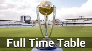 ICC Cricket World Cup Time Table 2019: Cricket Fixtures, Schedule, Timings in IST And All You Need to Know