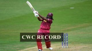 World Cup 2019: Chris Gayle Surpasses AB De Villiers, Creates Record For Most Sixes in CWC History During Tie Against Pakistan