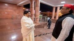 Akhilesh Meets Mayawati at Her Residence After Exit Polls Projections