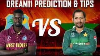 Dream11 Prediction: West Indies vs Pakistan Match 2, Best Picks For Today's Cricket WC 2019 Match Between WI vs PAK at Trent Bridge in Nottingham at 3PM