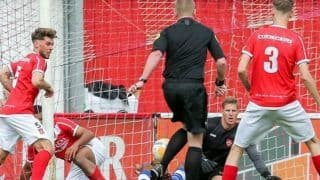 Referee Accidentally Scores Goal During Dutch Amateur League During Match Between Harkemase Boys vs Hoek, Rules it Legal   WATCH VIDEO