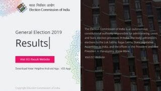 Check Out Real-Time Trends And Results of LS Polls on EC's Mobile App