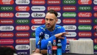 ICC Cricket World Cup 2019: Faf du Plessis Spells Strong Message Ahead of India Match, Says Won't Let Junior Players Suffer From Self-Pity