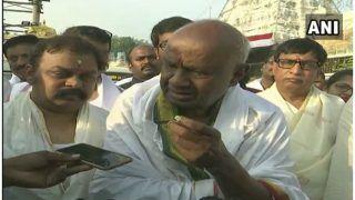 HD देवगौड़ा ने 86वें जन्मदिन पर तिरूमला में की पूजा, चुनाव रिजल्ट पर बोले-हम कांग्रेस के साथ