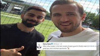Virat Kohli Meets England Football Skipper Harry Kane