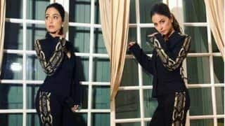 Hina Khan Looks Uber Hot in Black And Golden Pantsuit as She Attends Chopard Party at Cannes Film Festival