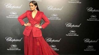 Huma Qureshi Dazzles in Red Blazer and Long Skirt as She Attends Chopard Party at Cannes Film Festival