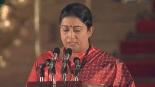 Smriti Irani Appointed as Women And Child Development Minister