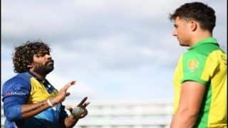 Sri Lanka's Lasith Malinga Tutors Aussie Pacer Marcus Stoinis on Slow Ball Execution Ahead of World Cup