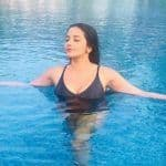 Bhojpuri Hot Bomb Monalisa Flaunts Her Swimming Skills in Sexy Black Bikini And Fans Can't Keep Calm