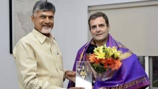 Chandrababu Naidu Meets Rahul Gandhi to Discuss Firming up of Anti-BJP Front