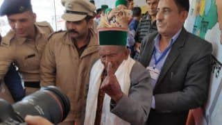102-Year-Old Shyam Saran Negi Casts His Vote in Himachal Pradesh