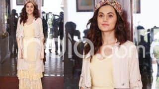 Game Over: Taapsee Pannu Keeps Her Summer Look on Point as She Promotes Film