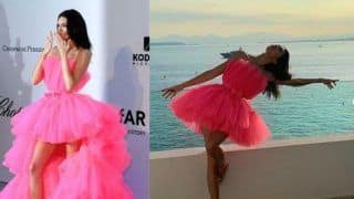 Kendall Jenner Wears Pink Netted Short Dress by Giambattista Valli Similar to Deepika Padukone's Cannes Look, Check Out