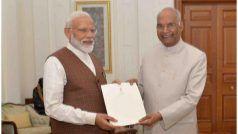 राष्ट्रपति रामनाथ कोविंद से मिले नरेंद्र मोदी, इस दिन लेंगे प्रधानमंत्री पद की शपथ