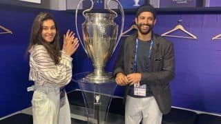 Farhan Akhtar-Shibani Dandekar Cannot Keep Calm as They Get This Close to Champions League Trophy