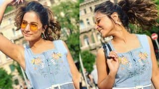 Hina Khan 'Paints The Sky Blue' With Her Dress as She Gets Playful With Her Hair