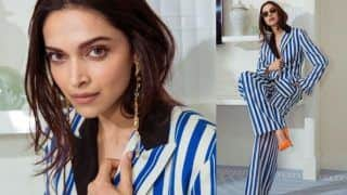 Cannes 2019: Deepika Padukone Rocks Her Striped Pant-Suit Look on Day 2, Ranveer Singh Cannot Stop Gushing Over His Wife